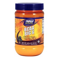 Now foods, sports, bcaa big 6, natural grape flavor - 21.16 oz