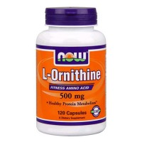 Nowfoods l-ornithine 500mg dietry supplements, Veg capsules - 120 ea