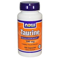 Nowfoods taurine 500mg dietry supplements, Capsules - 100 ea