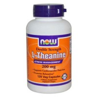 Nowfoods l-theanine 200mg dietry supplements, Veg capsules - 120 ea