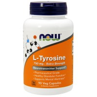 Now foods l- tyrosine 750 mg extra strength veg capsules - 90 ea