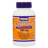 Nowfoods l-tryptophan 500mg extra strength dietry supplements, Veg capsules - 60 ea