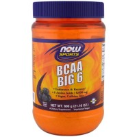 Now Foods BCAA big 6 powder, watermelon flavor - 21.16 oz