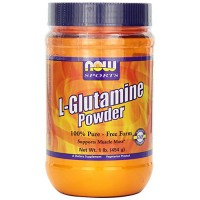 Nowfoods l-glutamine powder supports muscle mass dietry supplements, Powder - 1 lb