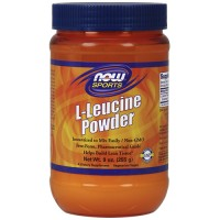 Nowfoods l-leucine powder dietry supplements, Powder - 9 oz