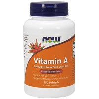 Nowfoods vitamin a 25000 iu from fish liver oil dietry supplements, Softgels - 250 ea