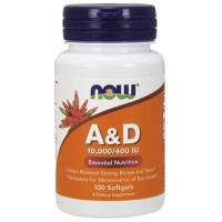 Nowfoods vitamin a and d 10000 iu from fish liver oil dietry supplements, Softgels - 100 ea