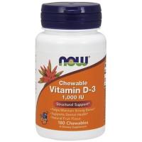 Nowfoods vitamin d-3 1000 iu dietry supplements, Chewables - 180 ea