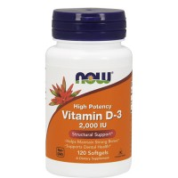 Nowfoods vitamin d-3 2000 iu high potency dietry supplements, Softgels - 120 ea