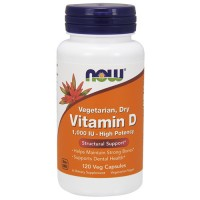 Nowfoods vitamin d 1000 iu high potency dietry supplements, Veg capsules - 120 ea