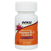 Nowfoods vitamin d-3 1000 iu high potency dietry supplements softgels - 120 ea