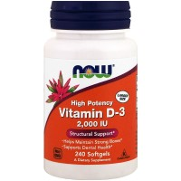 Nowfoods vitamin d-3 2000 iu high potency dietry supplements, Softgels - 240 ea
