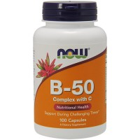 Nowfoods Vitamin B-50 Complex With C - 100 Capsules