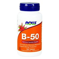 Nowfoods vitamin b-50 dietry supplements, Tablets - 250 ea