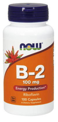 Now foods vitamin b-2 (riboflavin) 100 mg capsules -100  ea