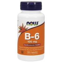 Nowfoods vitamin b-6 100mg dietry supplements, Capsules - 100 ea