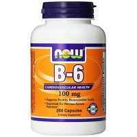Nowfoods Vitamin B-6 100mg Dietry Supplements, Capsules - 250 ea