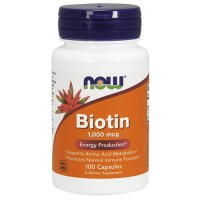 Nowfoods biotin 1000mcg dietry supplements, Capsules - 100 ea