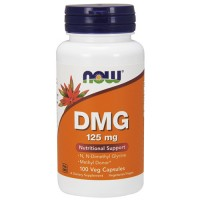 Nowfoods dmg 125mg dietry supplements, Veg capsules - 100 ea