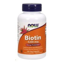 Nowfoods biotin 5000mcg dietry supplements, Veg capsules - 120 ea