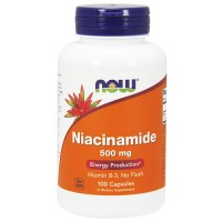 Nowfoods niacinamide 500mg b-3 capsules dietry supplements, Capsules - 100 ea