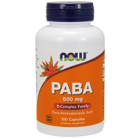 Nowfoods paba 500mg dietry supplements, Capsules - 100 ea
