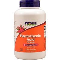 Nowfoods Pantothenic Acid 500mg Vitamin B-5, Capsules - 250 ea