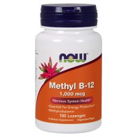 Nowfoods Methyl B-12 1000mcg Dietry Supplements, Lozengers - 100 ea