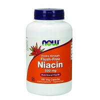 Nowfoods double strength flush free niacin 500mg dietry supplements, Veg capsules - 180 ea