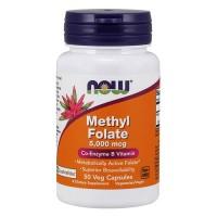 Now foods, methyl folate, 5,000 mcg,veg capsules - 50 ea