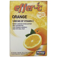 Nowfoods effer-c dietry supplements, Orange - 7 oz