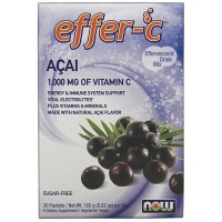 Nowfoods effer-c dietry supplements, Acai berry - 30 packets