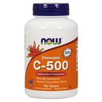 Nowfoods chewable c-500 cherry supplements, Tablets - 100 ea