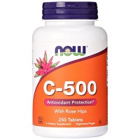 Nowfoods vitamin c-500 with rose hips supplements, Tablets - 250 ea