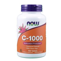 Nowfoods vitamin c-1000 sustained release supplements, Tablets - 100 ea