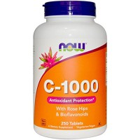 Nowfoods vitamin c-1000 with rose hips and bioflavonoids supplements, Tablets - 250 ea