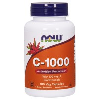 Nowfoods vitamin C-1000 with 100 mg of bioflavonoids veg capsules - 100 ea