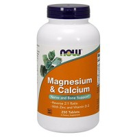 Now foods magnesium & calcium tablets - 100 ea