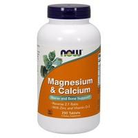 Now foods magnesium & calcium tablets - 100 ea