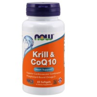 Now Foods krill and CoQ10 softgels - 60 ea