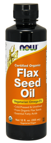 Now foods flax seed oil - 12 oz