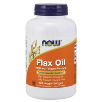 Now foods, flax oil, 1000 mg, veggie softgels - 120 ea