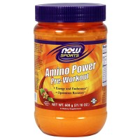 Now foods, sports, amino power pre-workout, natural raspberry flavor - 21.16 oz