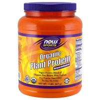 Now foods, organic plant protein, natural unflavored - 16 oz