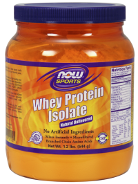 Now foods whey protein isolate unflavored - 1.2 lbs