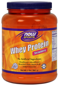Now foods whey protein strawberry - 2 lbs