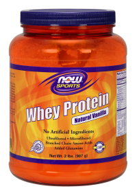 Now foods whey protein vanilla - 6 lbs