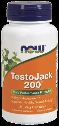Now foods testojack 200 veg capsules - 60 ea
