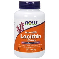 Now foods non gmo lecithin 1200 mg softgels - 100 ea