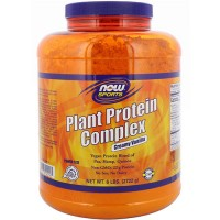 Now foods, sports, plant protein complex, creamy vanilla - 96 oz